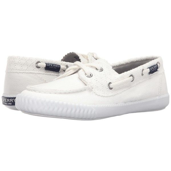 Sperry Top-Sider Sayel Away Perf Canvas (Bright White) Women's Lace Up.
