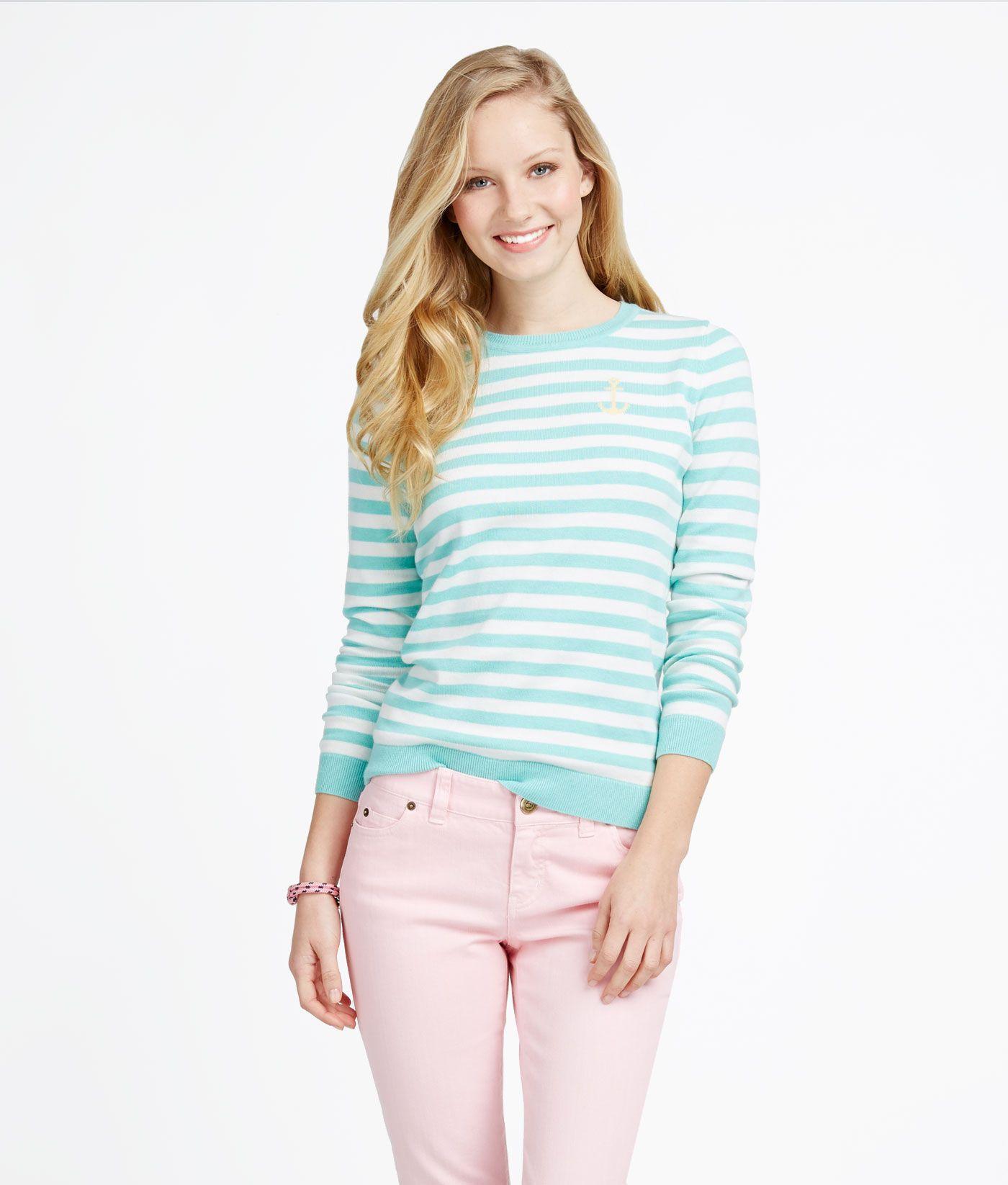 Women's Sweater: Shop Spring Stripe Intarsia Sweaters   Vineyard ...