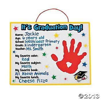 Preschool Graduation Crafts Graduation Handprint Craft Kit
