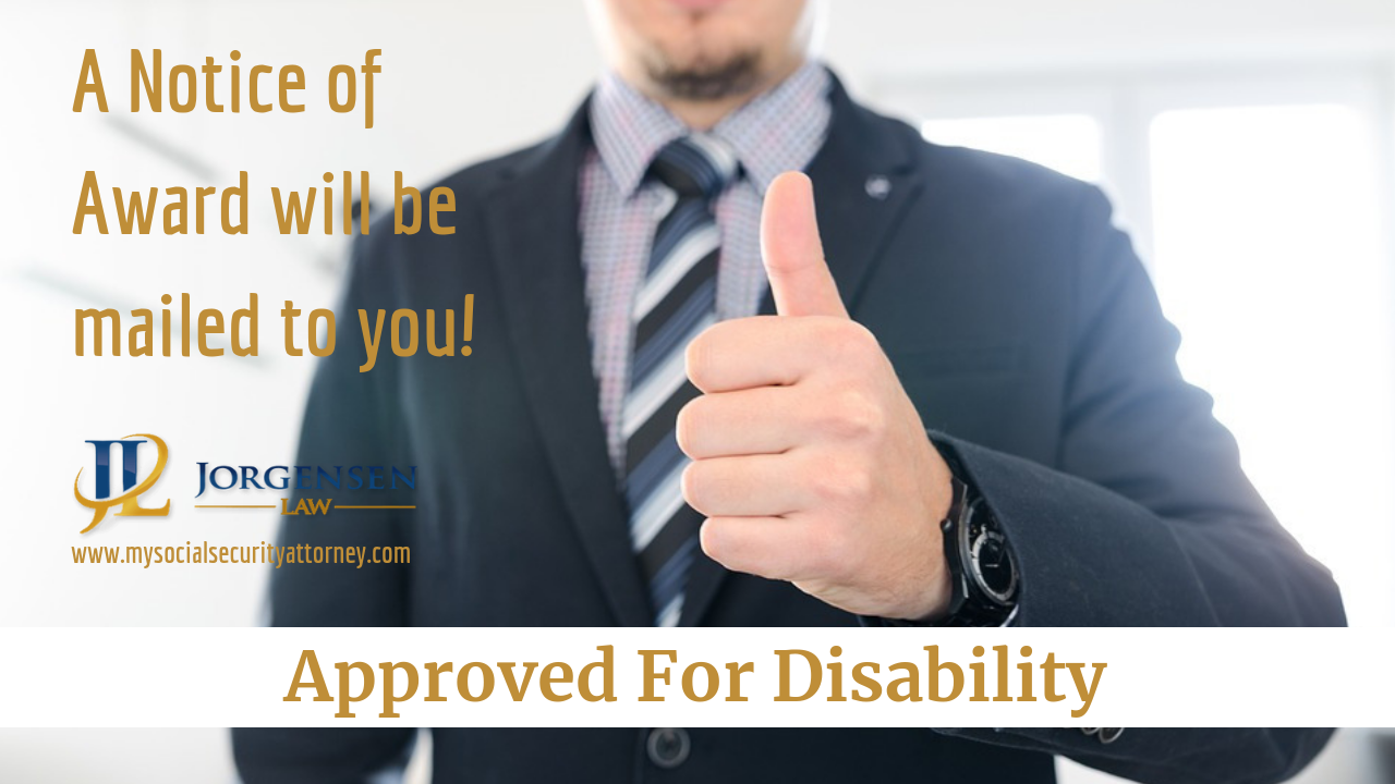 Approved for Disability Disability, Social security