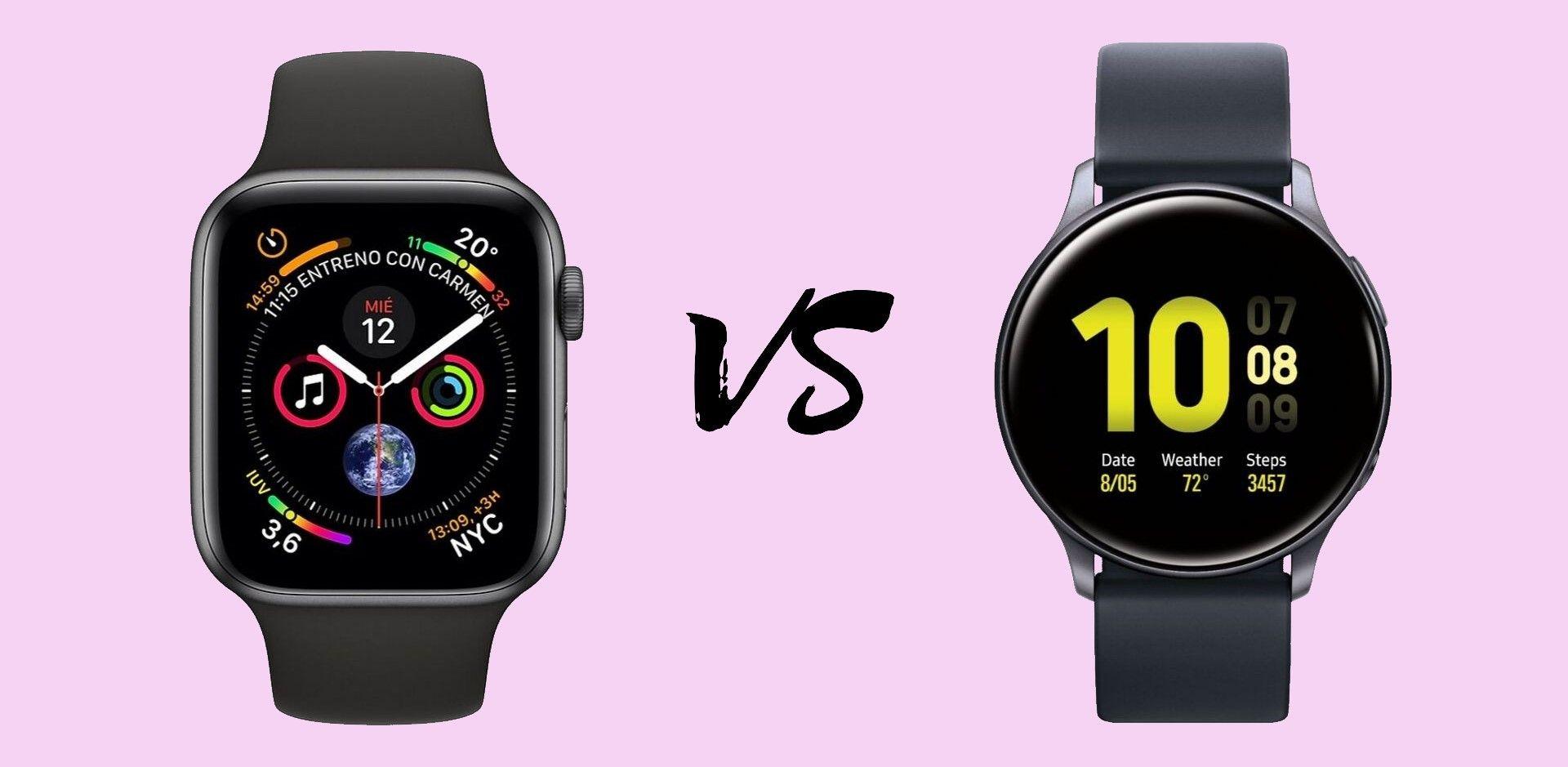 Apple Watch Series 5 Vs Samsung Galaxy Watch Active 2 Qué Smartwatch Es Mejor Apple Watch Smartwatch Samsung Galaxy