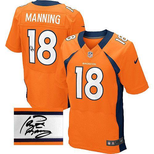 Peyton Manning Elite Jersey-80%OFF Nike Autographed Peyton Manning Elite  Jersey at Broncos 61eb183fb