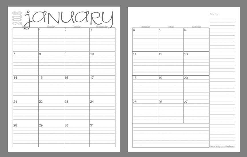 Semana Calendario.Calendario 2018 Por Semanas Planners Design Calendario 2018