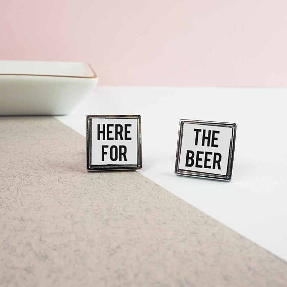 Wedding Gifts For Ushers And Best Man: Here For The Beer Cufflinks