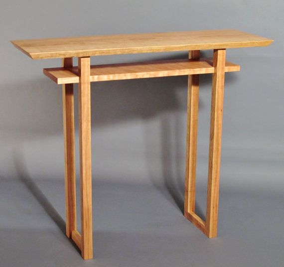 Narrow Side Table Handmade Custom Wood Furniture Minimalist Etsy Narrow Side Table Custom Wood Furniture Classic Side Table