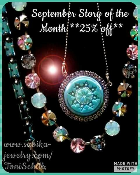 Get your 25% off Highlights Medallion Necklace NOW!! From past history, these medallions tend to sell out the quickest. Pair it with any of the other Highlight 25% off items! I HAVE AN OPEN PARTY RIGHT NOW, & you can ORDER ONLINE for this party at: www.sabika-jewelry.com/ToniSchilb/myparties.asp   ..select party 83303, then 'Shop Now'. This party will close 9/4!!!