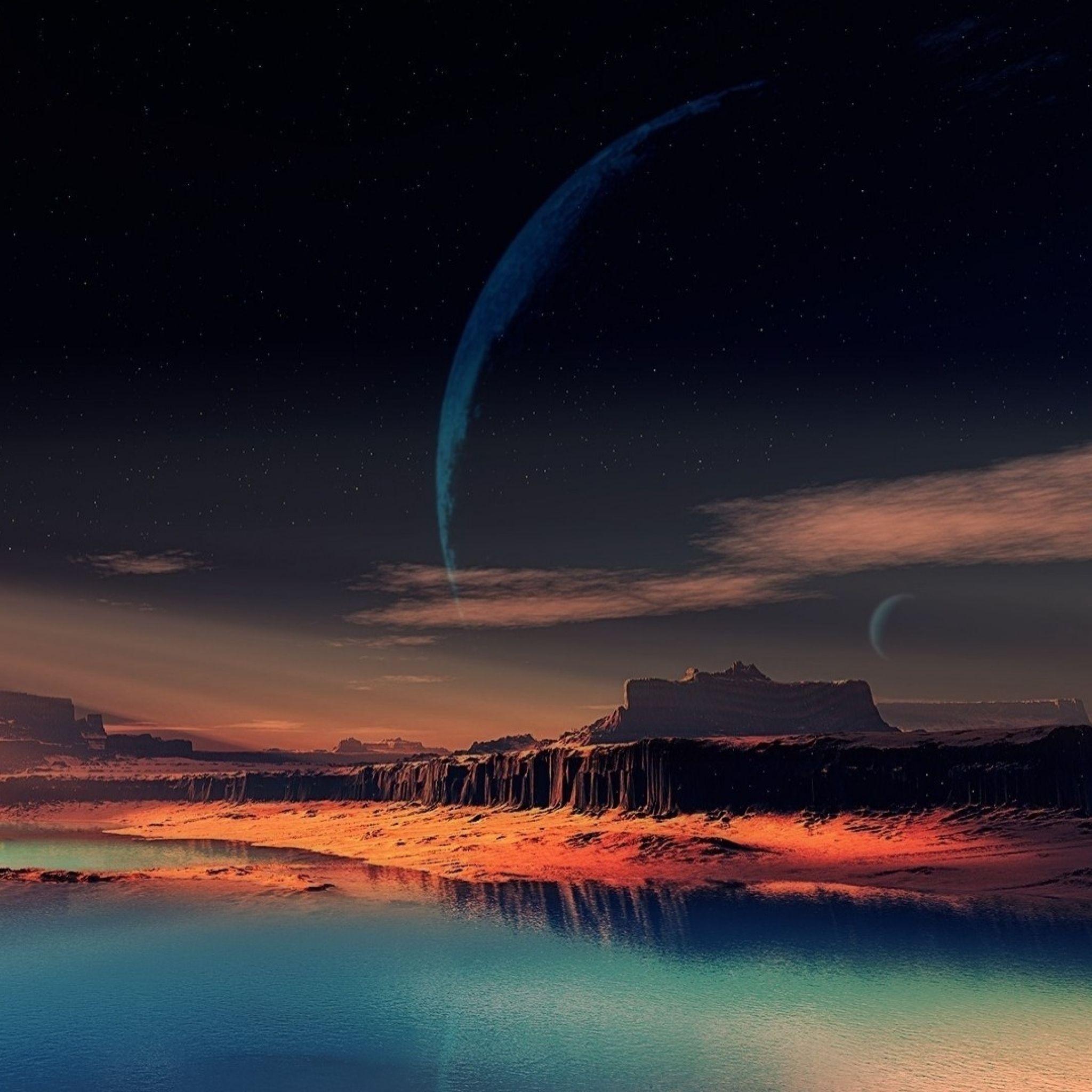 2048x2048 Wallpaper natureza, noite, espaço, bonito