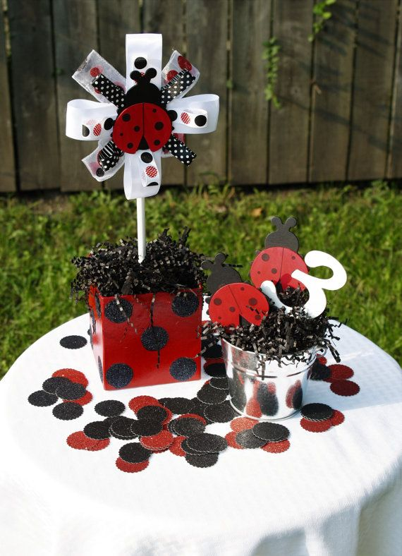ladybug party pack ladybug centerpiece ladybug birthday party