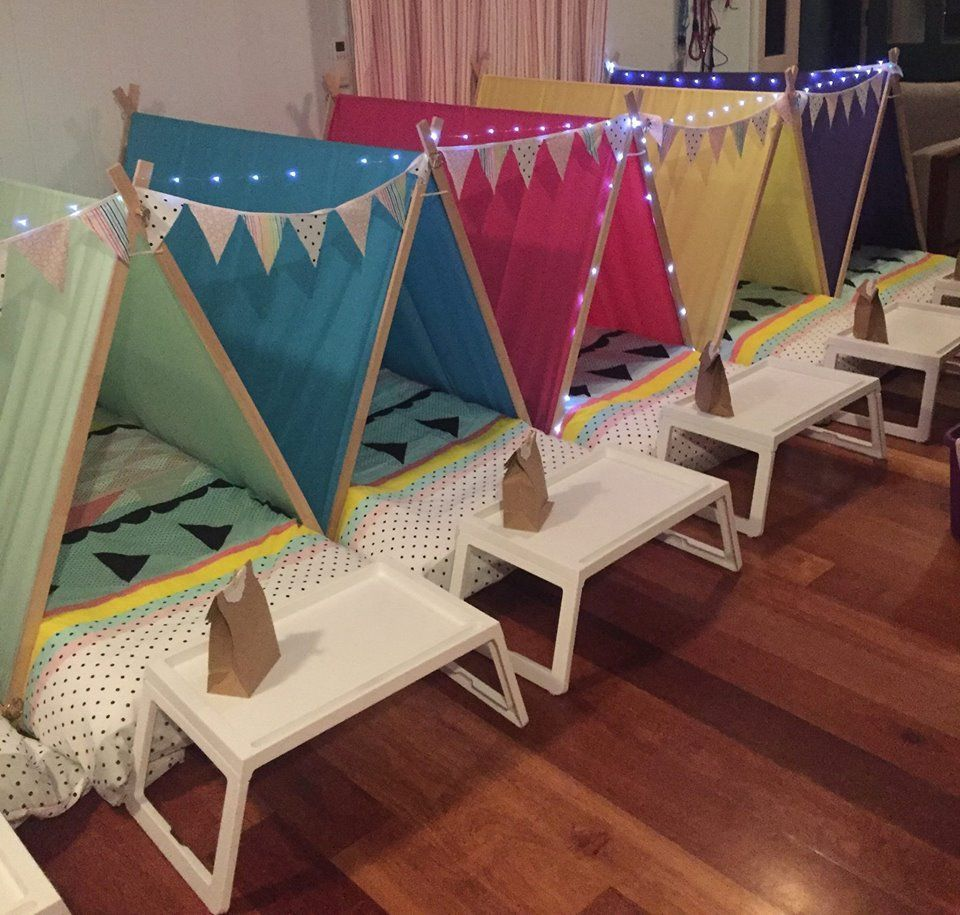 more photos 31b70 d41e2 slumber party tents - Google Search | Pancake and pj party ...