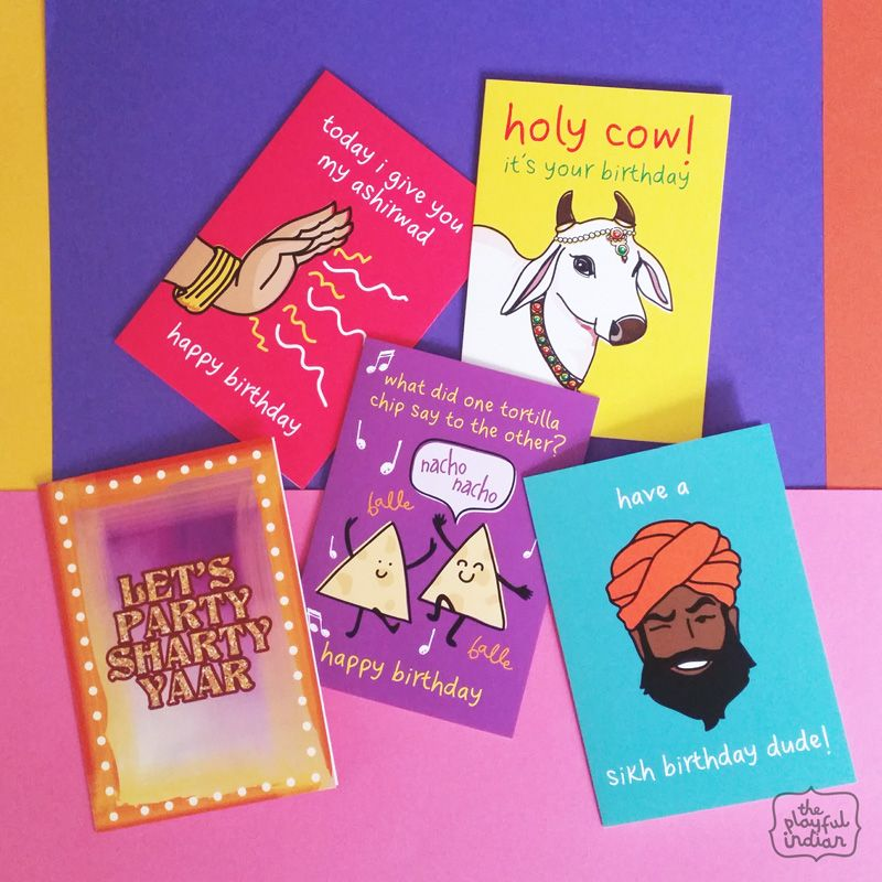 Shop Birthday Cards Theplayfulindian Birthday Birthdaycards Indianbirthday Indiancards Card Drawing Funny Art Prints Cards