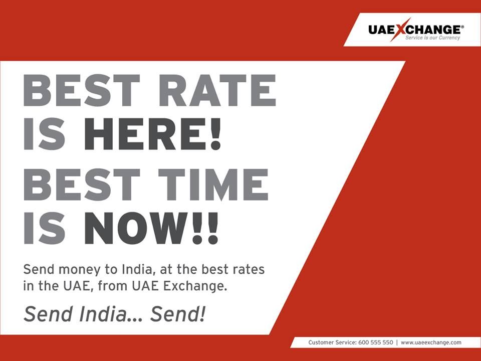 Send Money To India At The Best Rates In Uae From Uaeexchange