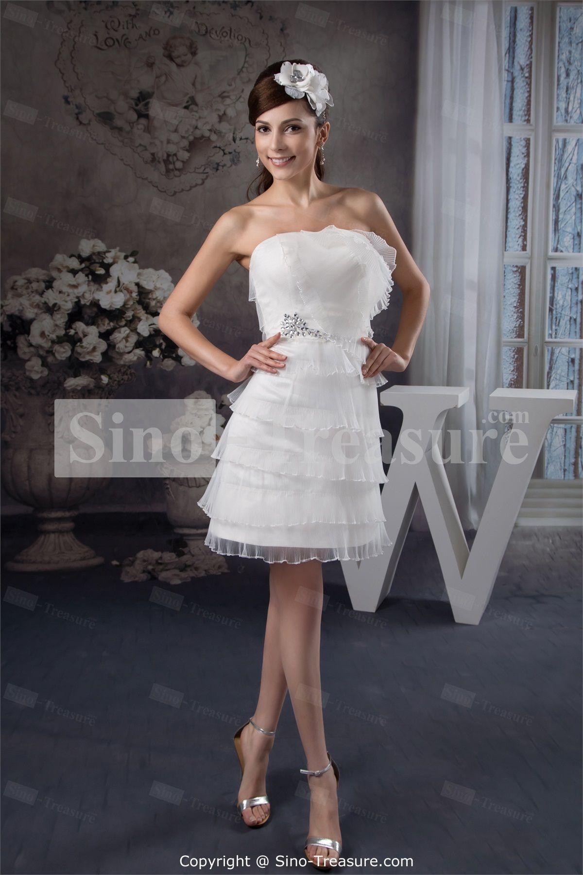 Mini white wedding dress  White ALine Short Mini Sleeveless Cocktail DressHomecoming Dress