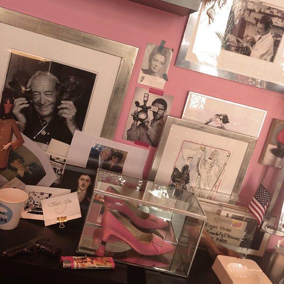 """""""Inès de la Fressange's office chez Roger Vivier, Paris."""""""