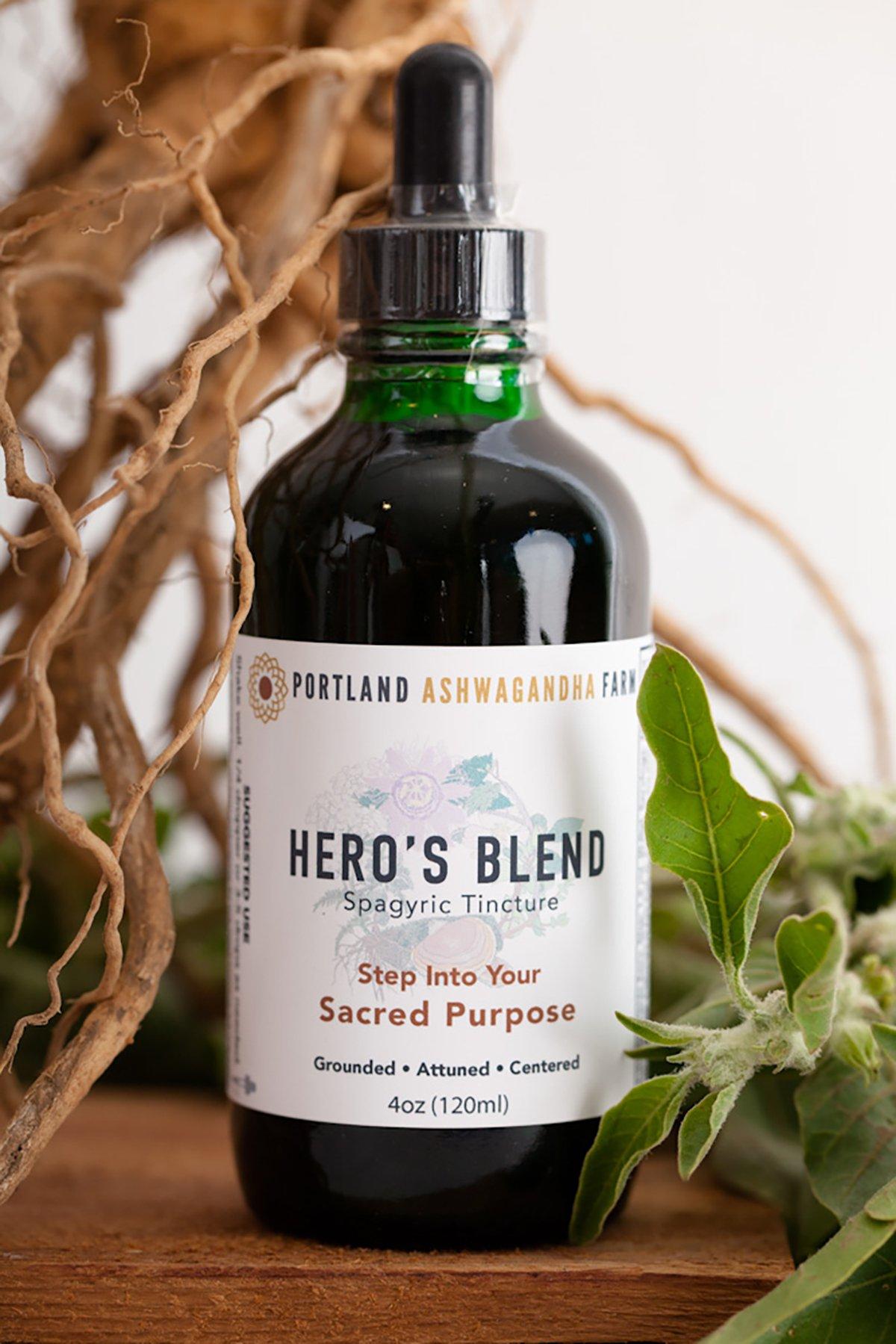 Hero S Blend Fresh Spagyric Tincture Tinctures Ashwagandha Root Organic Ingredients