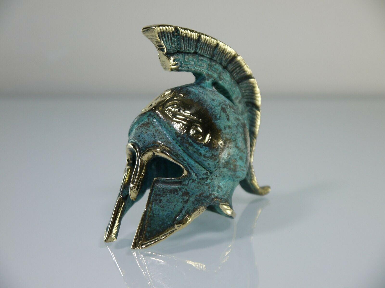 Ancient Greek Bronze Miniature Helmet Bronze Oxidation Handmade