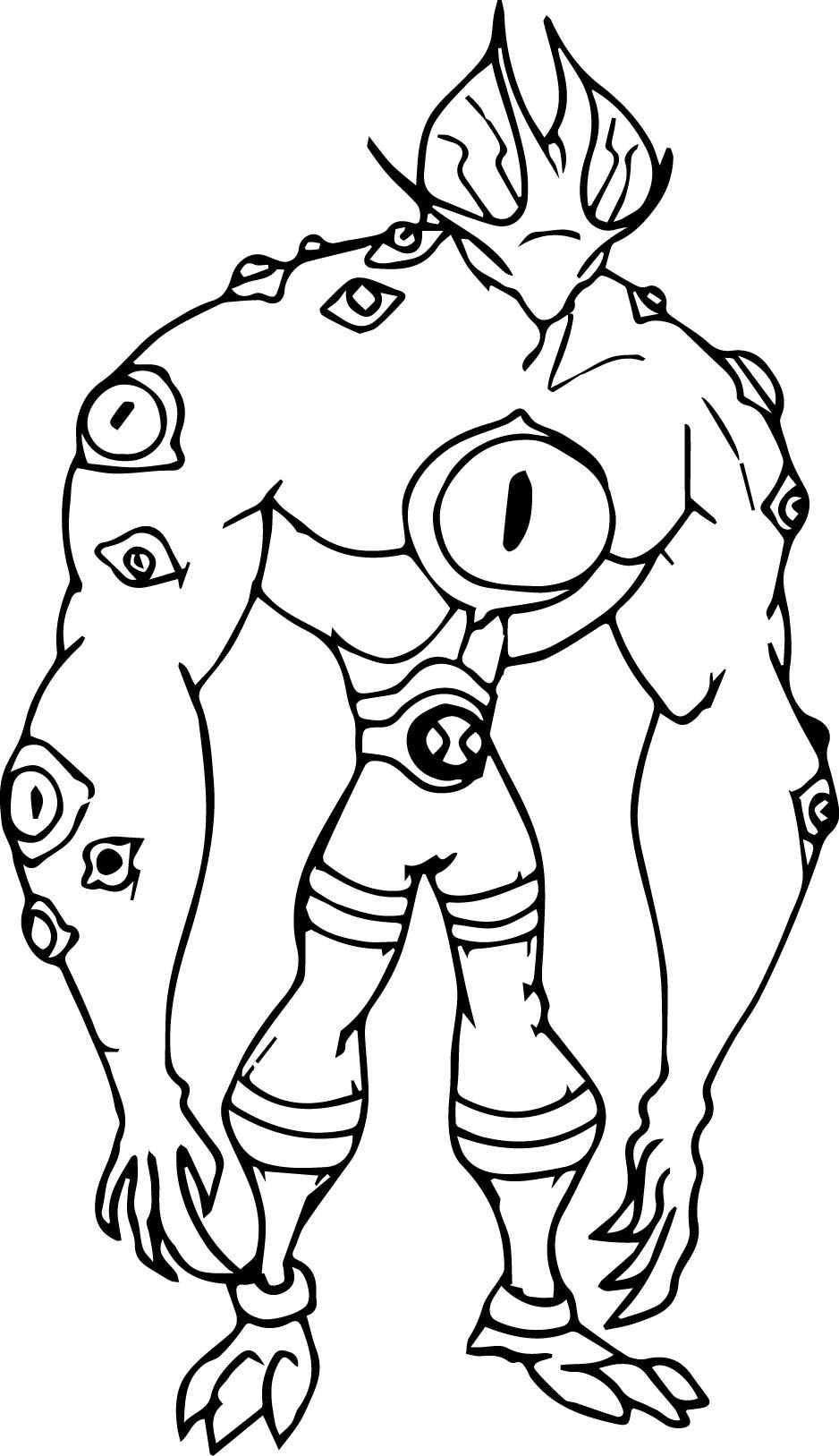 Awesome Ben 10 Swampfire Coloring Pages Mcoloring