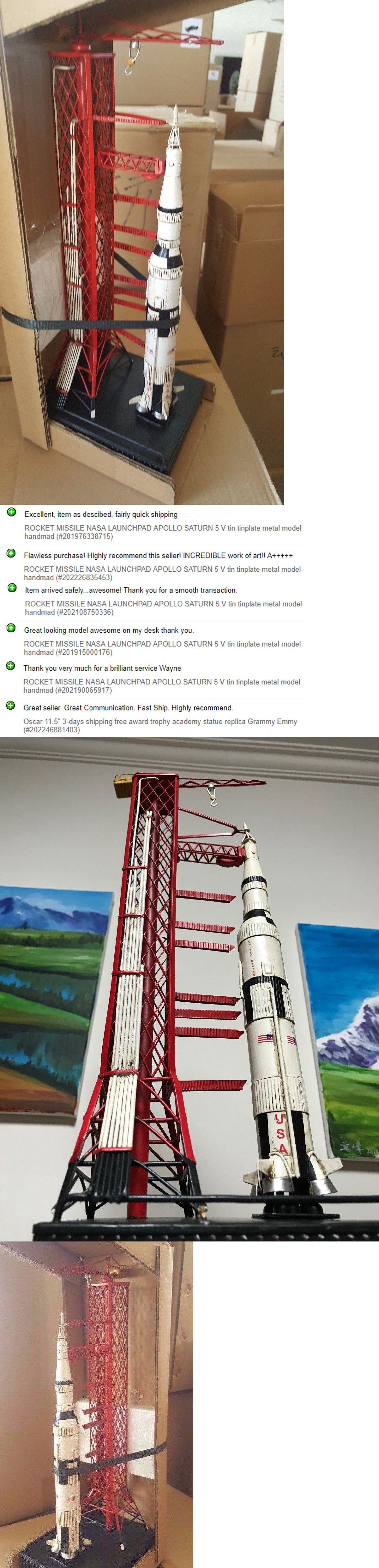 Rocket missile nasa launchpad apollo saturn v tin tinplate metal