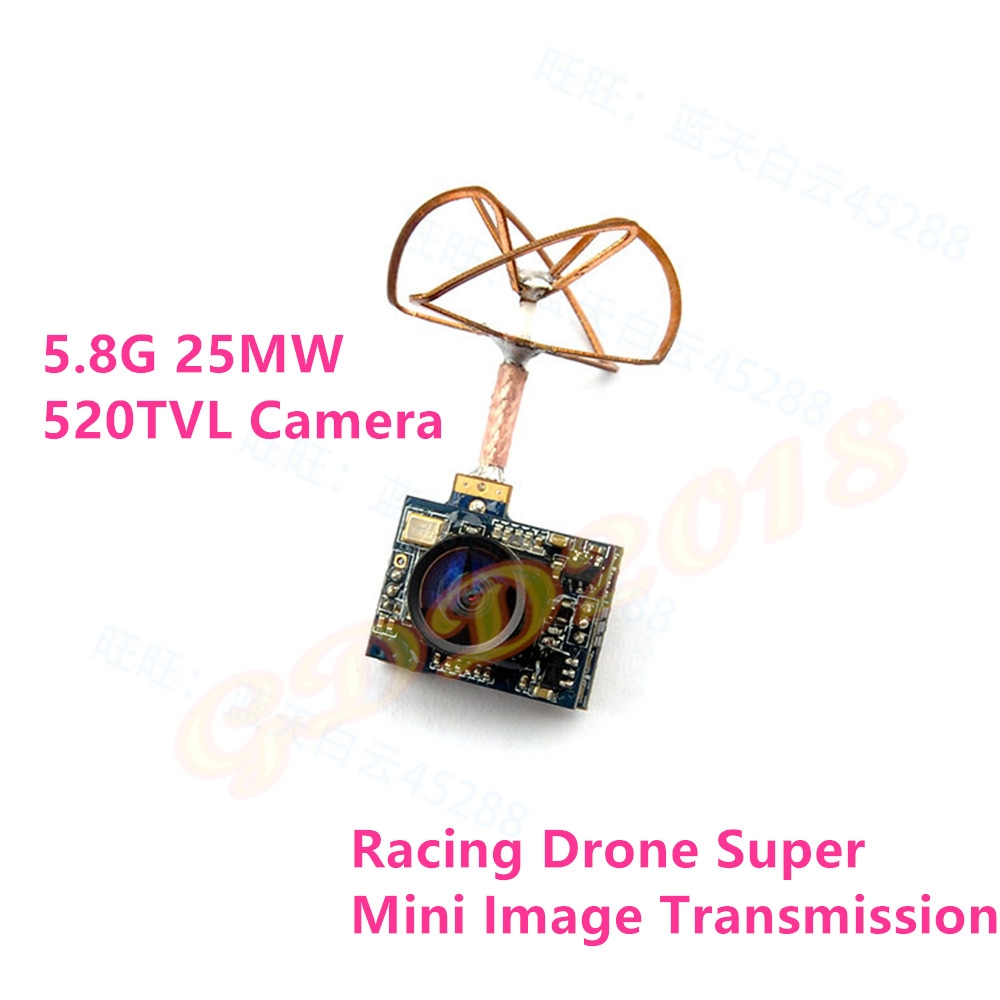 (32.83$)  Watch now - http://aiovo.worlditems.win/all/product.php?id=32715828610 - 5.8G 25mw Super Mini Light  Image Transmission with 520TVL Camera Racing Drone Image Transmission Combo