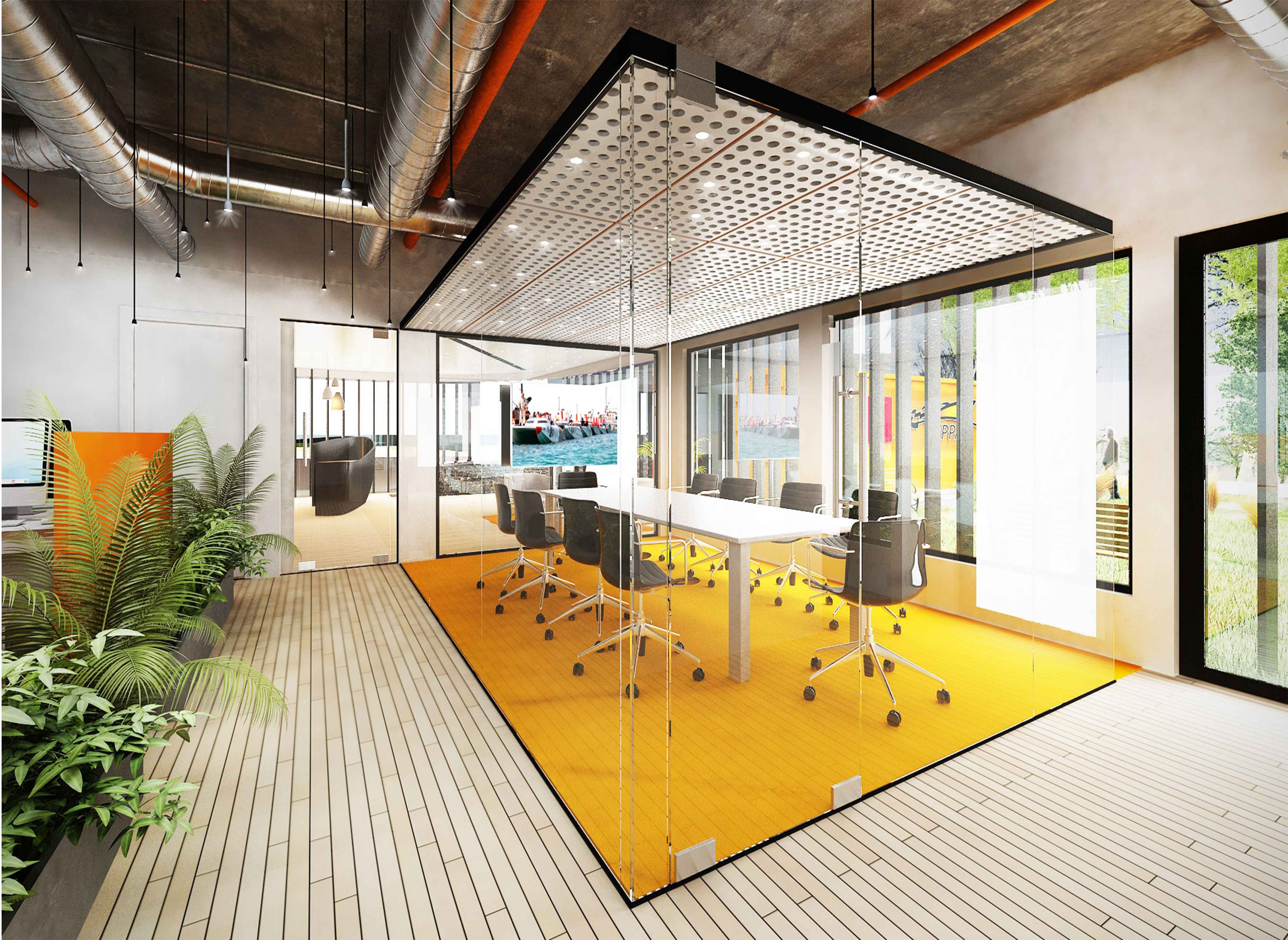Design Bureau Llc Contemporary Office Meeting Room Concept Wppa Dubai