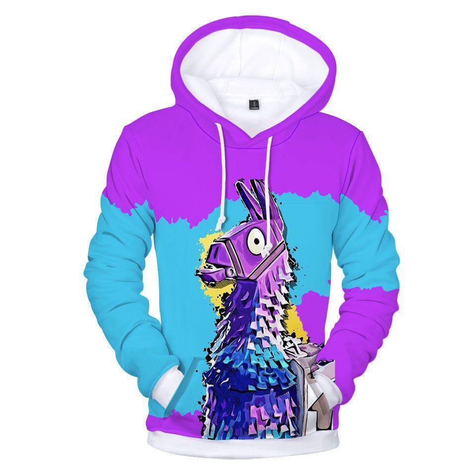 9d28767c1 Fortnite Llama Hoodie Sweater Fleece Jacket unisex Sweatshirt ...