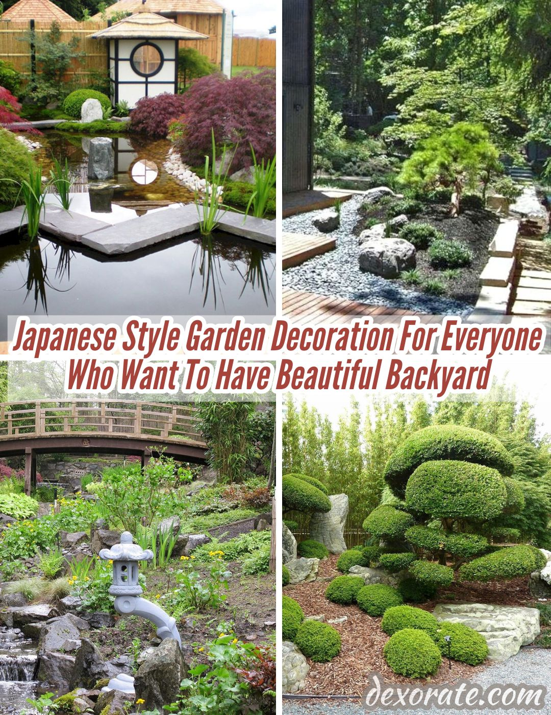 9+ Japanese Style Garden Decoration For Everyone Who Want To Have