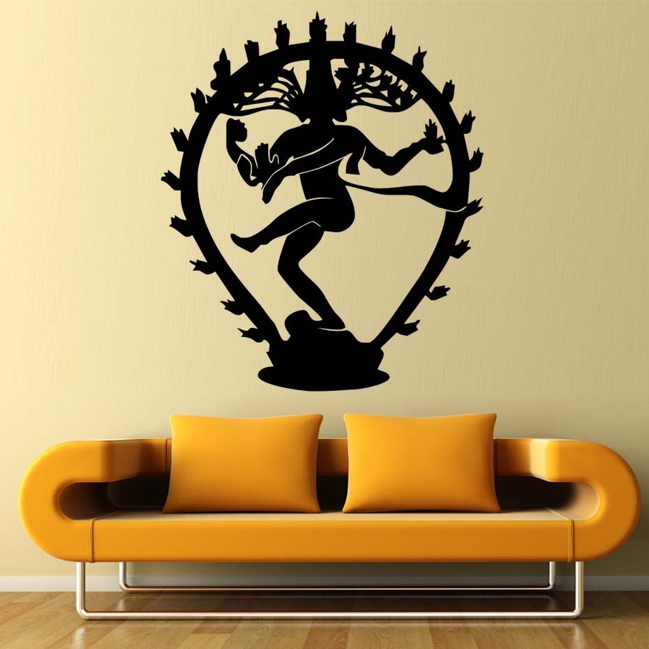 The Hindu God Of Destruction Shiva Wall Stickers Home Decor Indian ...