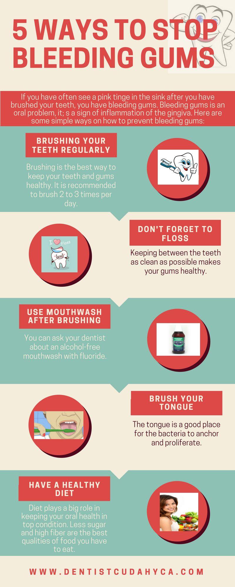5 Ways To Stop Bleeding Gums Cudahy CA Bleeding gum