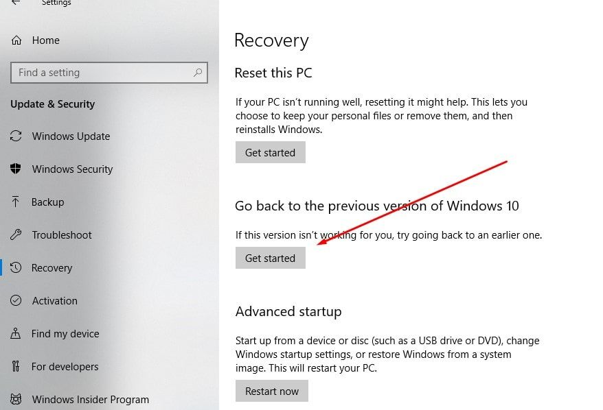 How to Downgrade Windows 10 1903 to 1809 (Uninstall Windows