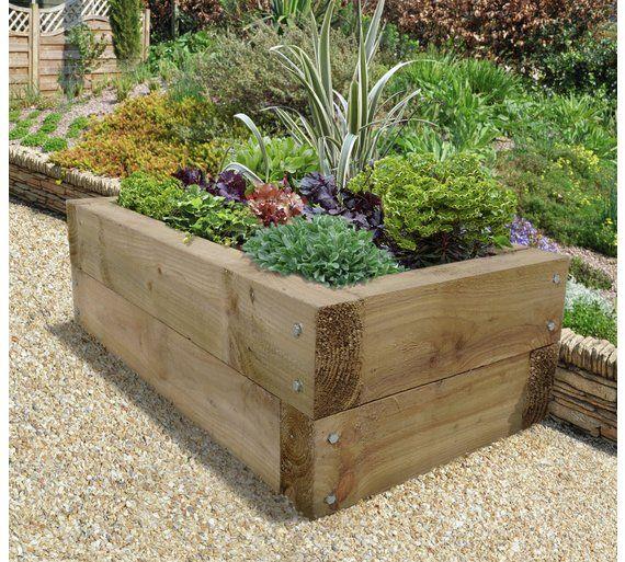 Buy Forest Sleeper Raised Bed Planter At Argos Co Uk Visit Argos Co Uk To Shop Online For Planters Raised Planter Beds Raised Garden Beds Raised Herb Garden