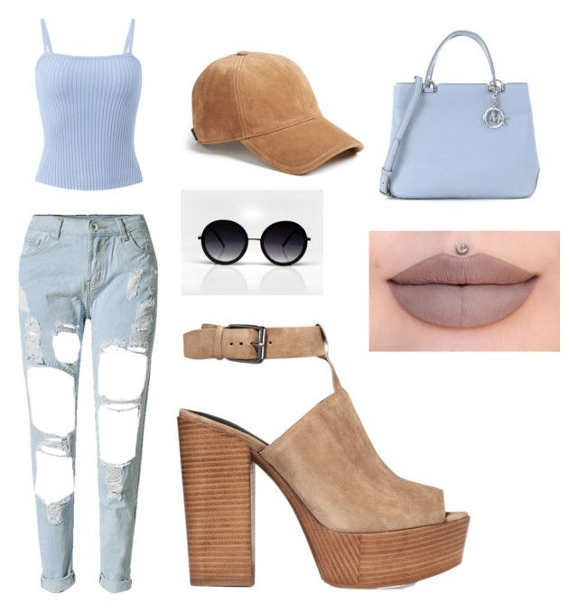 """The blues"" by lesley-maldonado on Polyvore featuring WithChic, Rebecca Minkoff, Michael Kors, rag & bone and Jeffree Star"