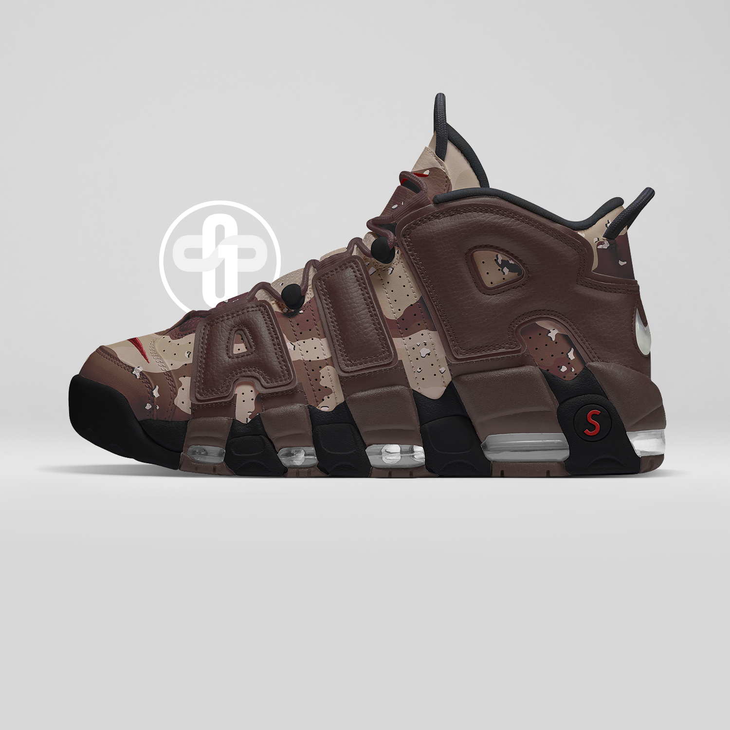 premium selection 03e16 f5538 Supreme x Nike Air More Uptempo Desert Camo