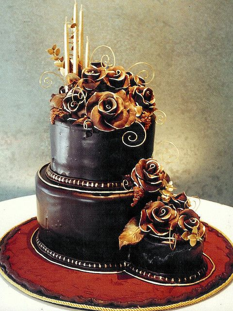 Chocolate Rose Gateau Au Chocolat Pinterest Chocolate Cake