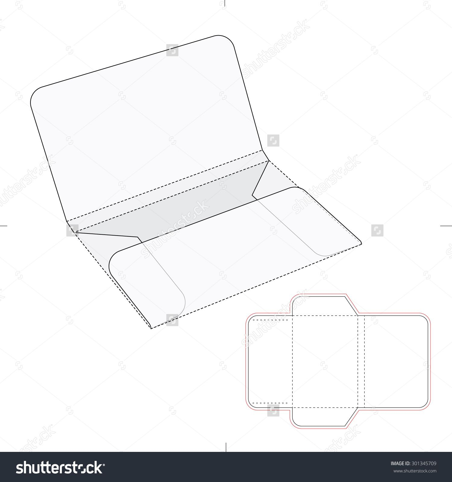 Envelope folder with blueprint template stock vector illustration envelope folder with blueprint template stock vector illustration 301345709 shutterstock malvernweather Choice Image