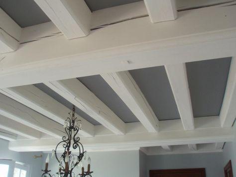 peinture poutre plafond Plus intérieur petite décoration Pinterest - comment peindre le plafond