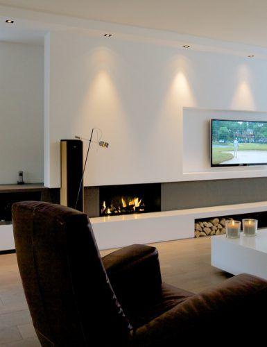 Woonkamer inspiratie met modern interieur | Huiskamer in 2018 ...
