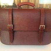 999a43aed3bb Купить или заказать Кожаный портфель, мужской портфель в интернет магазине  на Ярмарке Мастеров. С