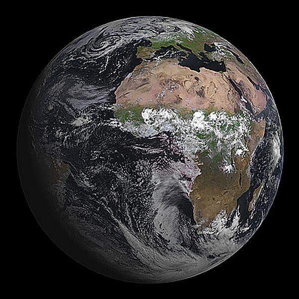 First Full Disk Image Of The SEVIRI Instrument On MSG MeteoSat - Earth satellite view 2016