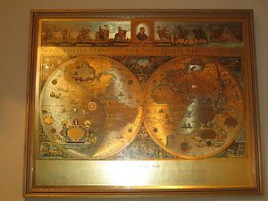 Vintage framed gold foil blaeu wall map of the world home decor vintage framed gold foil blaeu wall map of the world publicscrutiny Images