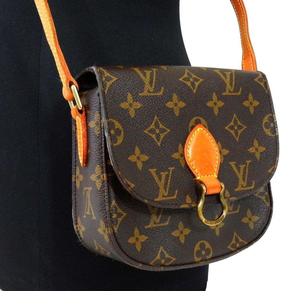 9ebe9eb4329a Authentic LOUIS VUITTON Monogram Saint Cloud PM Shoulder Bag Tasche Sac LV   LouisVuitton  ShoulderBag