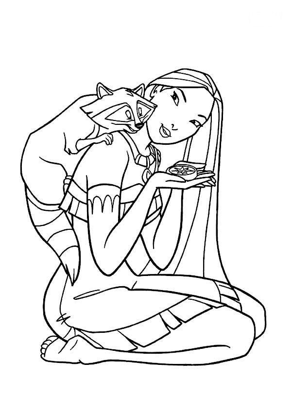 Pocahontas Coloring Page | y Blank Pattern ~ Pocahontas | Pinterest ...