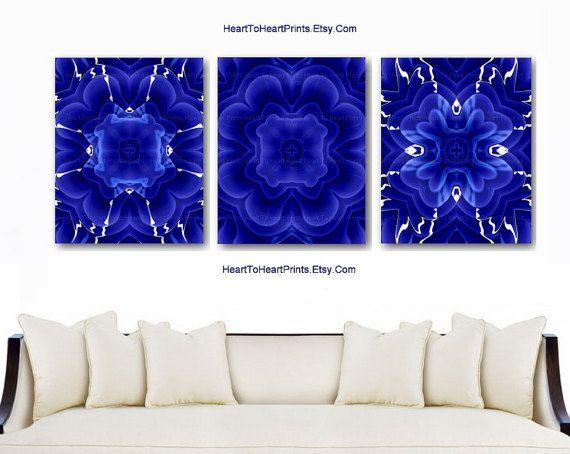 Navy Wall Art Blue Decor Cobalt Fl Prints
