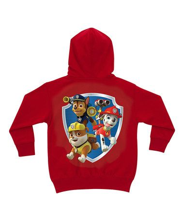 07dd5135e Loving this Red PAW Patrol Badge Personalized Zip-Up Hoodie ...
