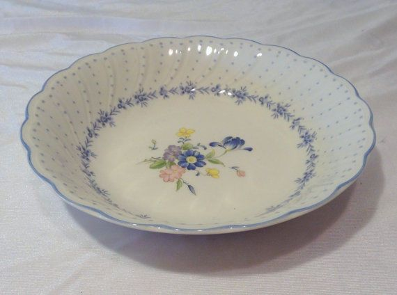 Nikko Fine Tableware Japan BLUE PEONY Soup Or Cereal Bowl #Nikko