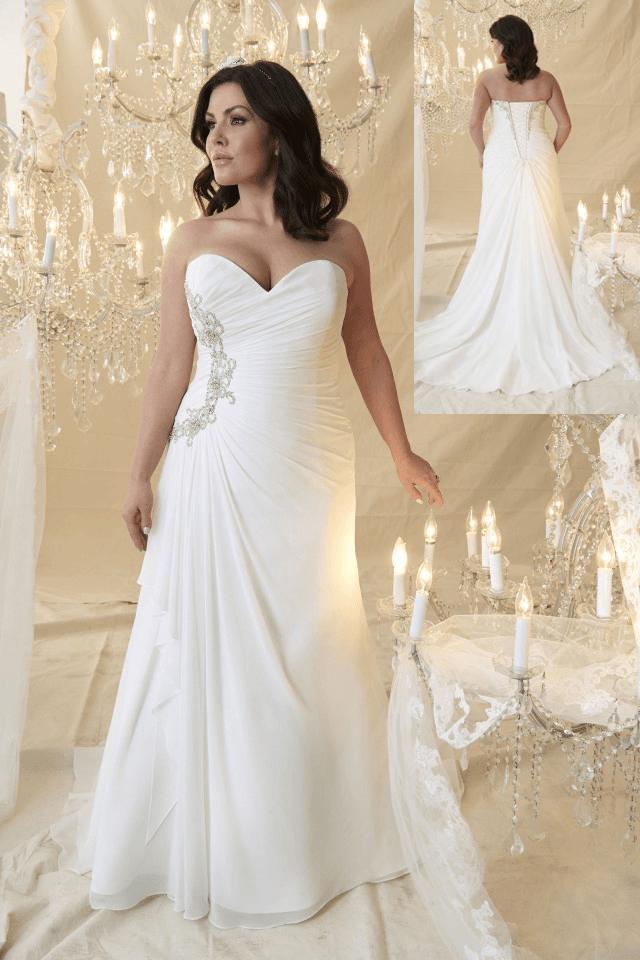 Stunning Fogure Flattering Plus Size Wedding Dress By Style Callista