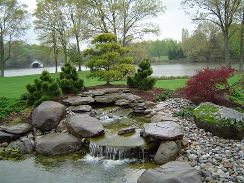 Gardens with boulders boise meridian eagle ponds and for Koi pool water gardens thornton