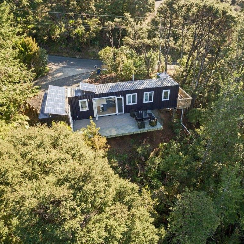 Brenda Kelly sells IQ Container Homes, tiny homes built from sea containers. IQ Container Homes is located on Waiheke Island, New Zealand. In a YouTube... #ContainerHomeDesigns