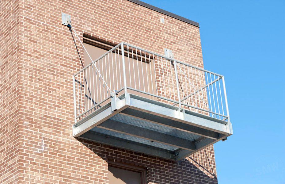 Custom Commercial Grade Heavy Steel Galvanized Balcony