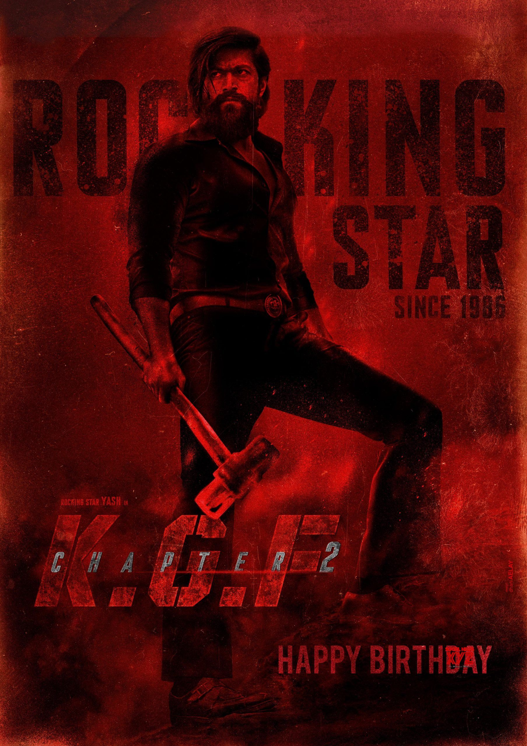 Rocking Star Yash Hd Birthday Poster From Kgf 2 Movie Kgfchapter2 Hbdyash Kgf2 In 2020 2 Movie Action Movie Poster New Poster