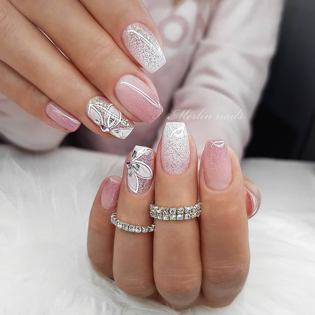48 Nail Art Designs You Need To Try This Year With Images Nail Art Ombre Glitter Nail Art Natural Nail Art