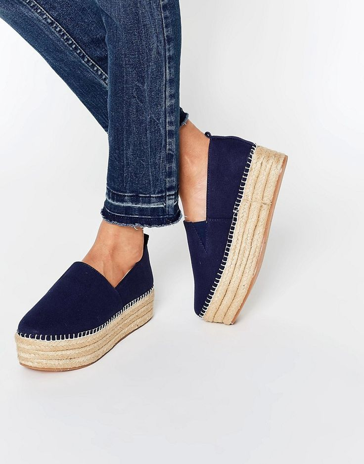 Shop Warehouse Espadrille Flatform at ASOS.